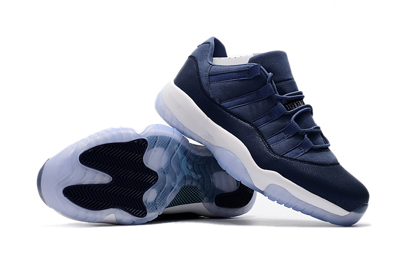 Men Jordan 11 Low GS Blue Moon Shoes